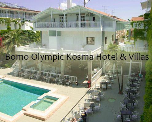 Taxi transfers to Bomo Olympic Kosma Hotel and Villas